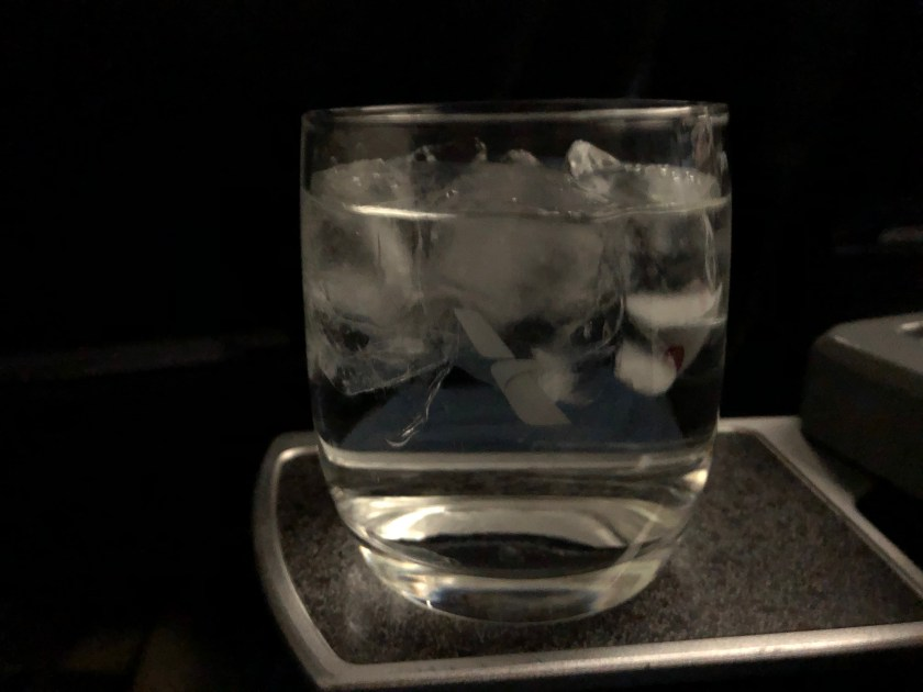 American Airlines Water Glass