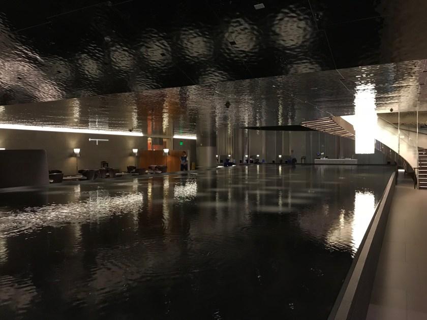 Al Mourjan Business Class Lounge Water Feature