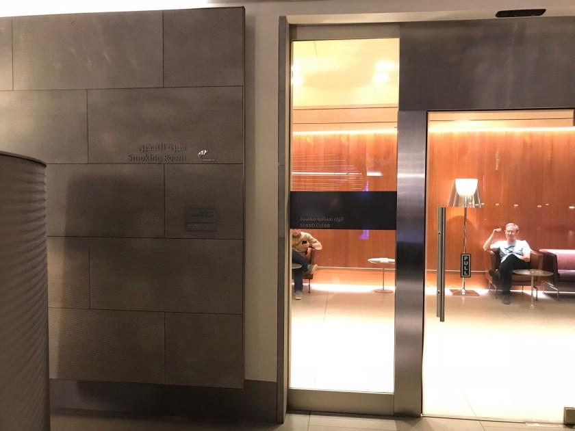 Al Mourjan Business Class Lounge Smoking Room