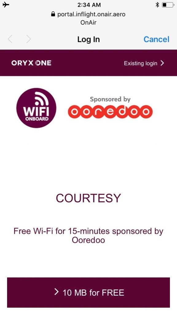Qatar Airways A350 WiFi