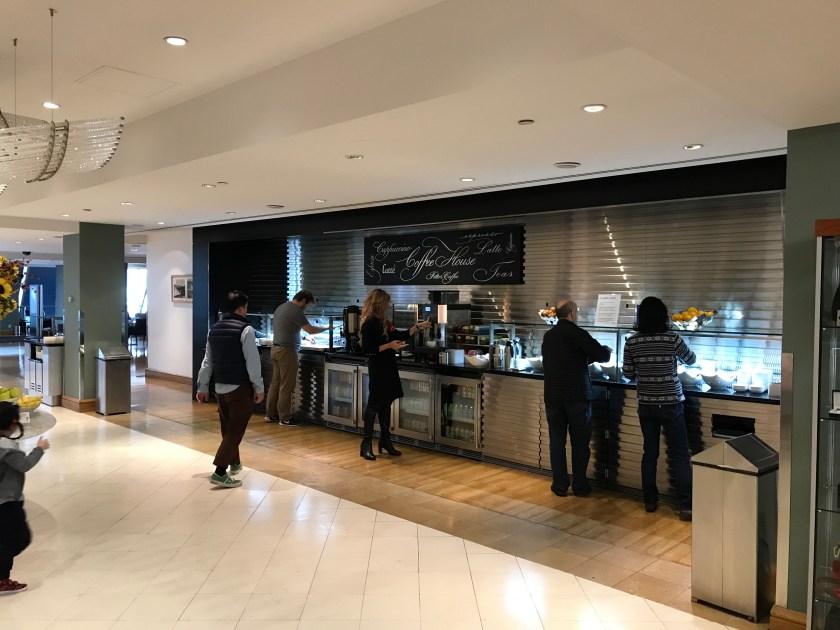 British Airways Galleries New York JFK Breakfast Buffet