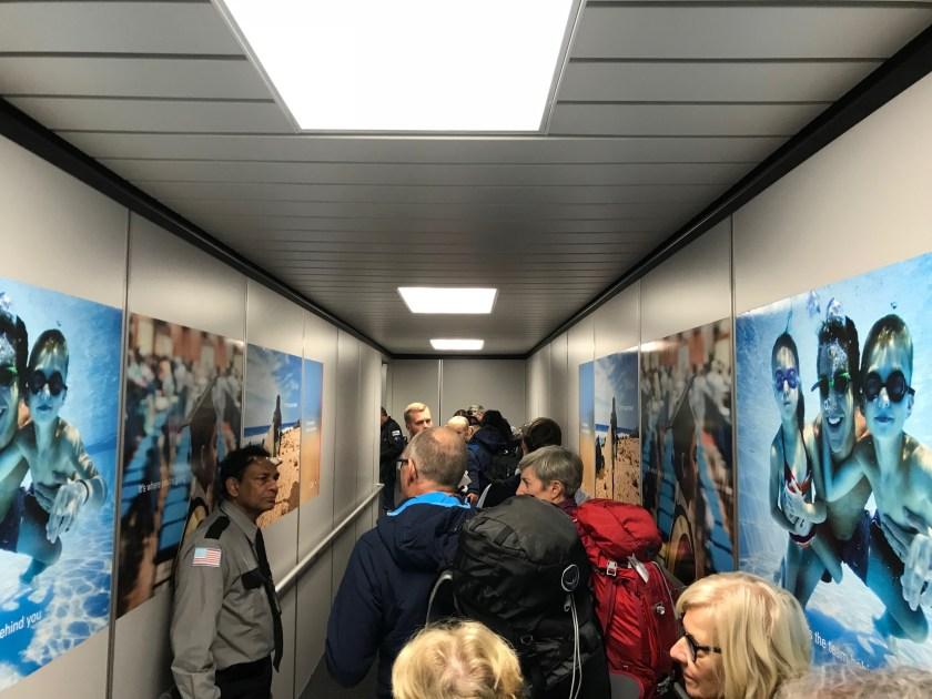 Qatar Airways Airbus A350 Boarding New York JFK