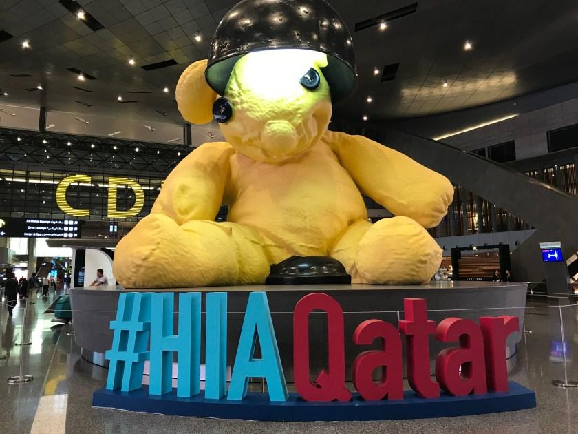 Qatar Airport Giant Teddy Bear