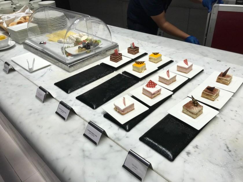 Al Mourjan Business Class Lounge Dining Resort Dessert Buffet