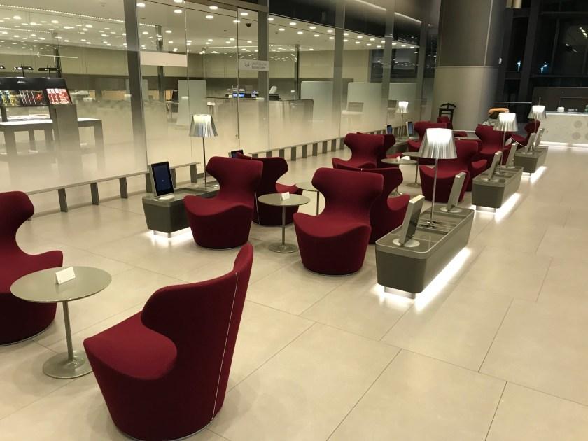 Al Mourjan Business Class Lounge Business Center Reception Area