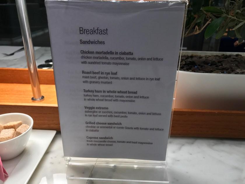 Al Mourjan Business Class Lounge Dining Resort Breakfast Menu