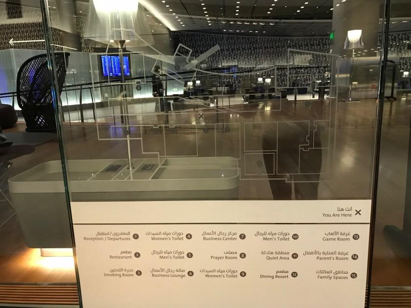 Al Mourjan Business Class Lounge Map