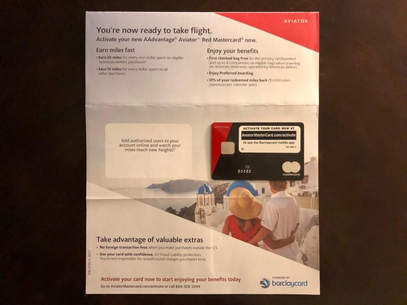 Barclaycard AAdvantage Aviator Red Card