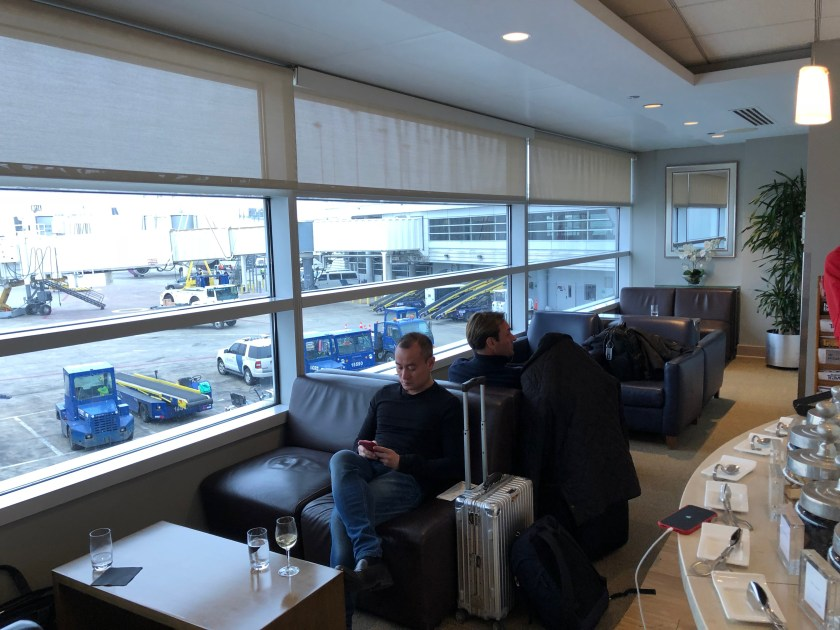 British Airways First Class Lounge Chicago O'Hare Seating