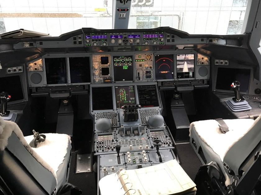 British Airways A380 Flight Deck
