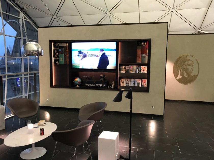American Express Centurion Lounge Hong Kong Television