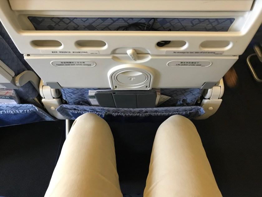 Cathay Pacific 777-300ER Economy Class Leg Room