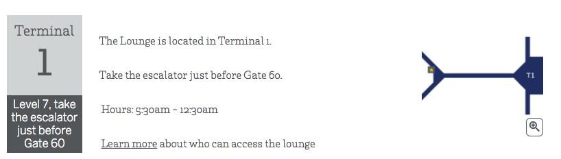 American Express Centurion Lounge Hong Kong Map