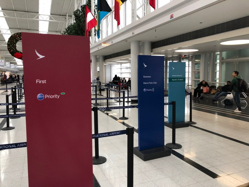Cathay Pacific Check-In Chicago O'Hare