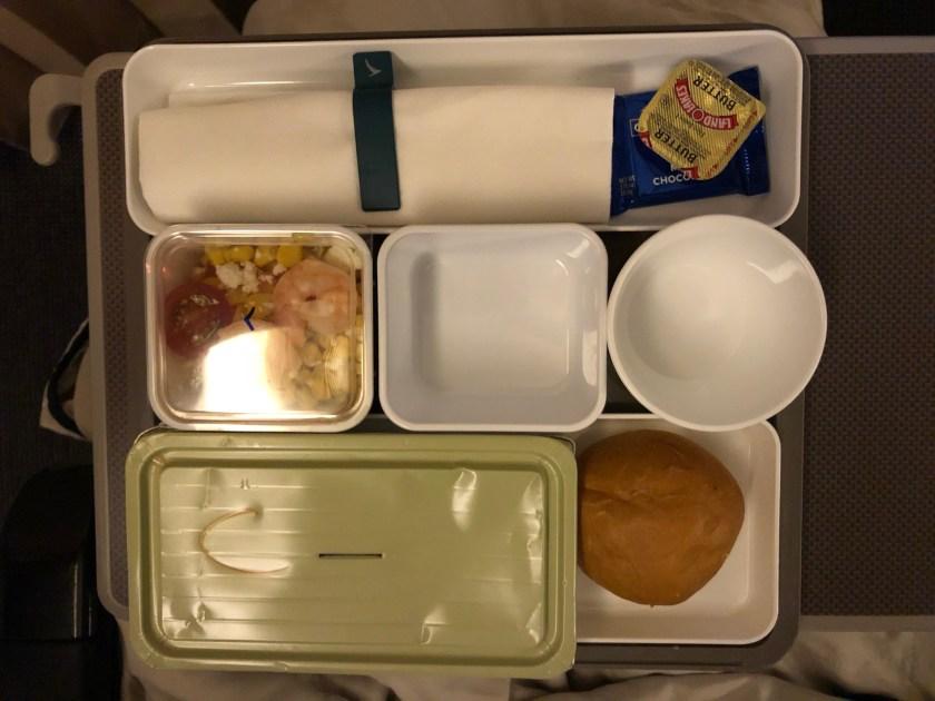 Cathay Pacific 777 Premium Economy Meal Service