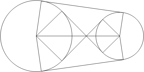幾何繪圖:兩圓公切線 – 十年磨一劍