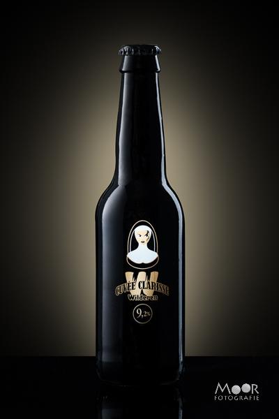 Eindresultaat Productfotografie met een bierflesje