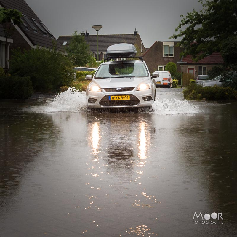 Water fotograferen - slecht weer regen