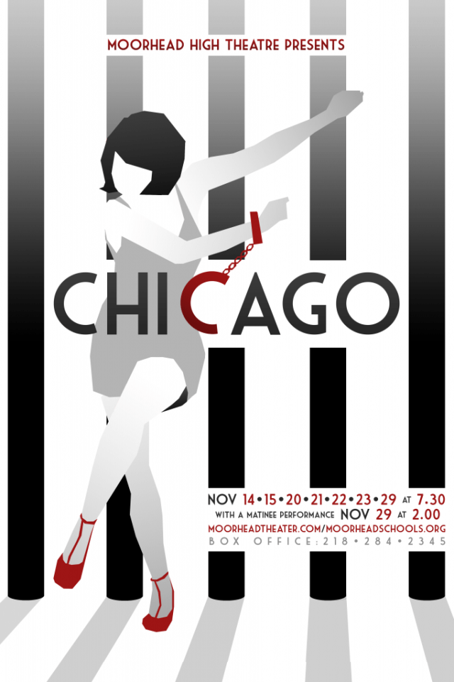 Chicago The Musical poster - Moorhead High School