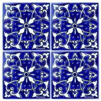 Blue Mediterranean Ceramic Tile - Bathroom Tiles - Kitchen ...