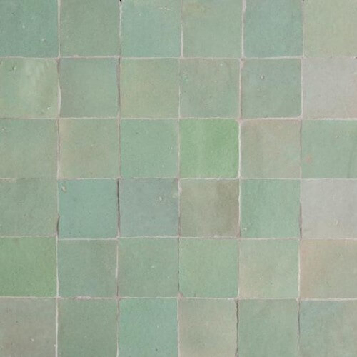 Timeless Fireplace Designs Mint Green Moroccan Tile - Mint Green Zellige