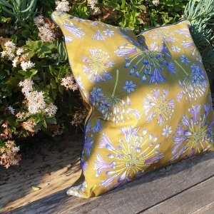CoralBloom Rectangle Scatter Cushion Agapanthus Green