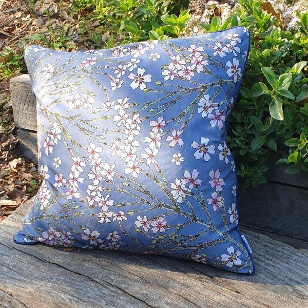CoralBloom Rectangle Scatter Cushion Jamesbrittenia Blue