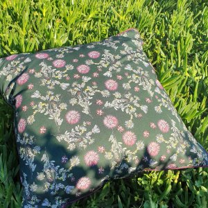 CoralBloom Rectangle Scatter Cushion Vygies Green