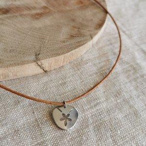 CoralBloom Handmade Jewelry Polished Aluminium Pendant