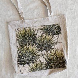 CoralBloom Hemp Tote Bag Haworthia