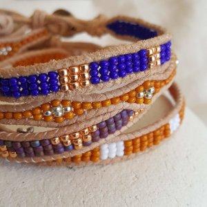 CoralBloom Woven Beaded Bracelets Detail