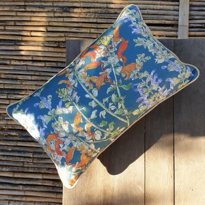 CoralBloom Rectangle Scatter Cushion Salvia Blue