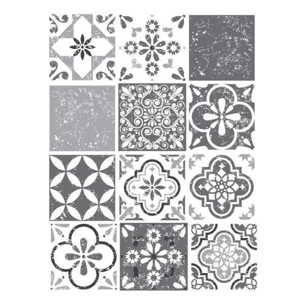 Mediterranean Grey - vinyl wall tiles