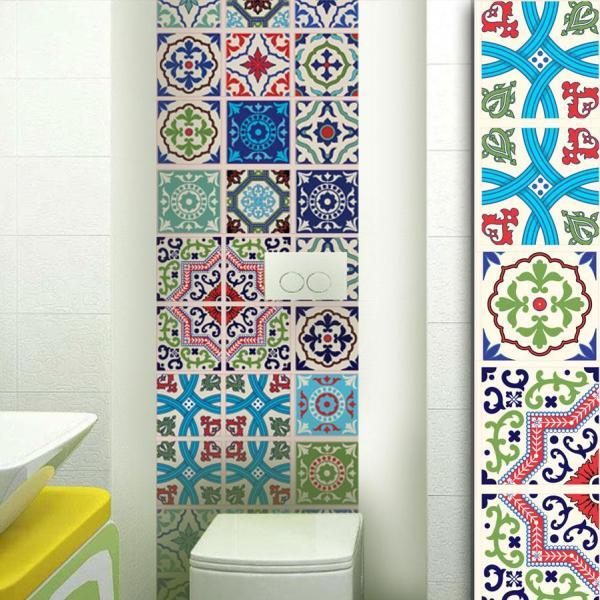 Moroccan - Colour vinyl wall tiles