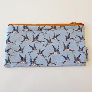 CoralBloom Pencil Case Bags Swallows