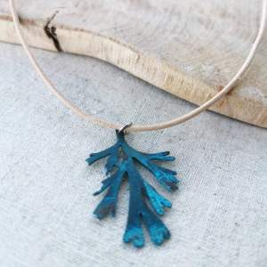 CoralBloom Pendant Reclaimed Copper Kelp