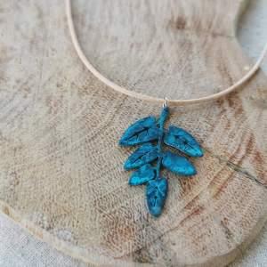 CoralBloom Pendant Reclaimed Copper Leaves