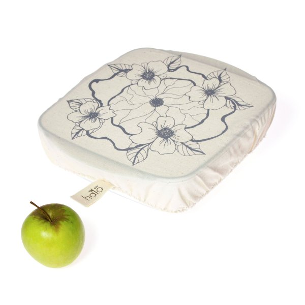 Halo Dish and Casserole Cover Square   Edible Flowers