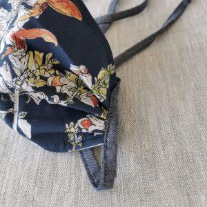 Golden Salvia Botanical Printed Reusable Cotton Face Mask
