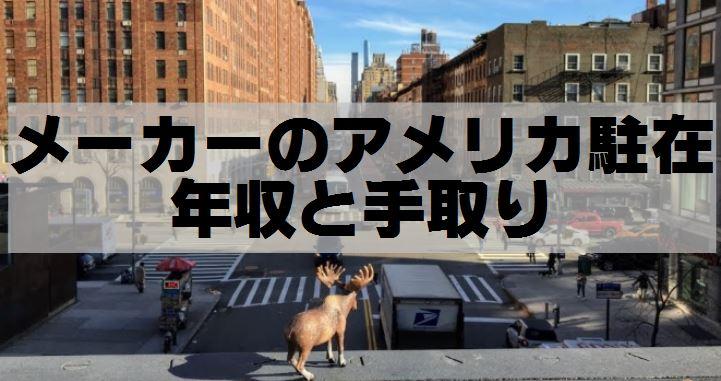 アメリカ,海外駐在員の年収,ニューヨークのビル街を眺める