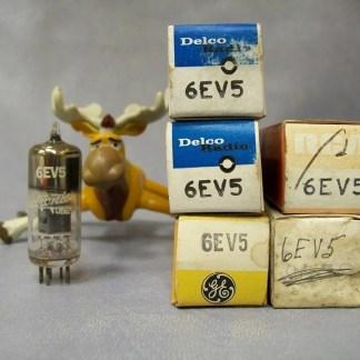 6EV5 Vacuum Tubes Lot of 5 Delco / GE / RCA
