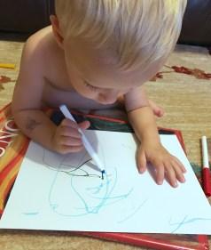 Ollie's an artist!
