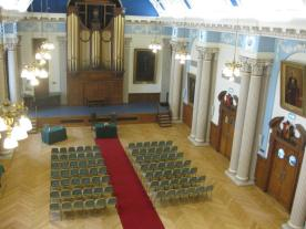 Moot Hall set up for gala concert