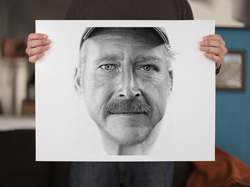 retrato con puntos