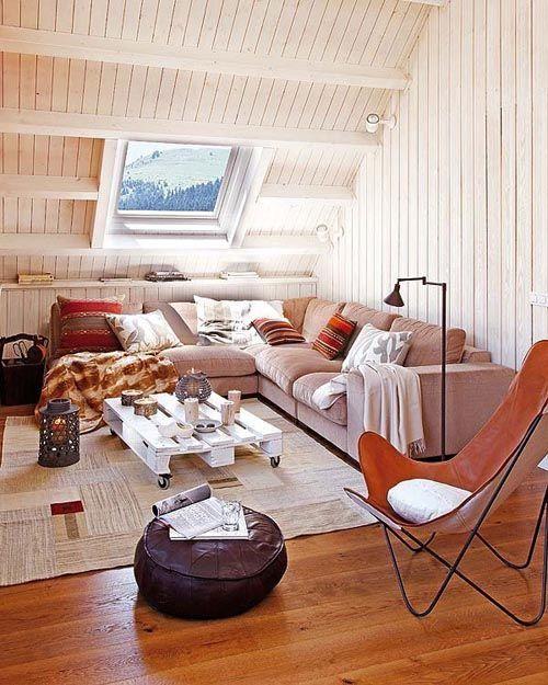 fotografia decoracion atico usado como sala de estar
