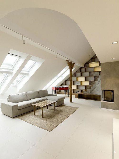 fotografia atico decorado ventanales luminoso sofa mesita