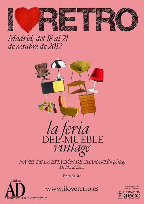 cartel feria mueble vintage i love retro