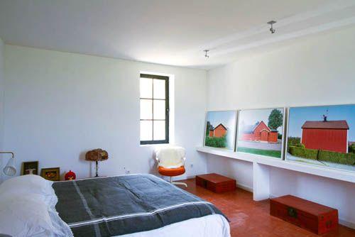 dormitorio granero reconvertido casa borgoña francia