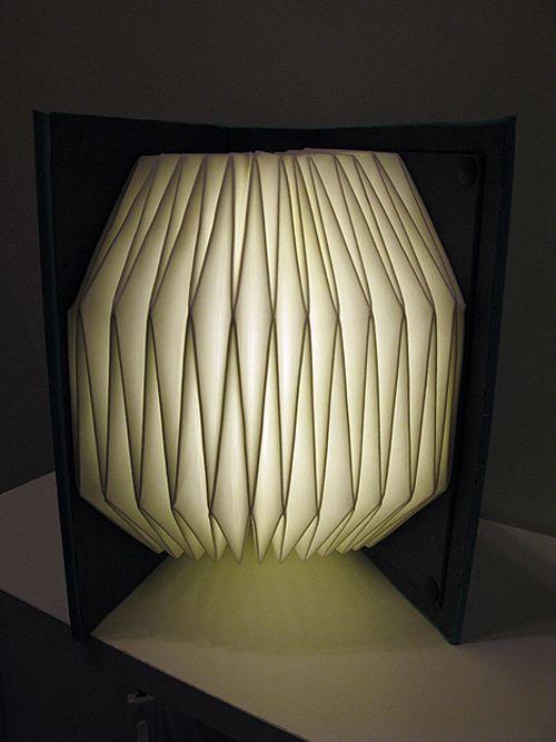 lampara folding lamp diseñador myungseo kag