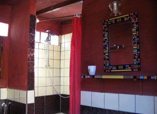 interior baño casa carro